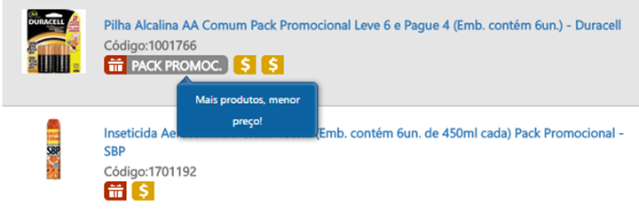 pack promocional exemplo