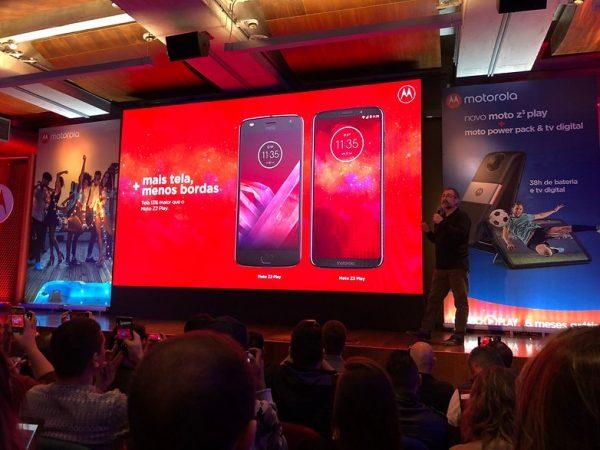 Imagem da apresentação do Moto Z3 Play
