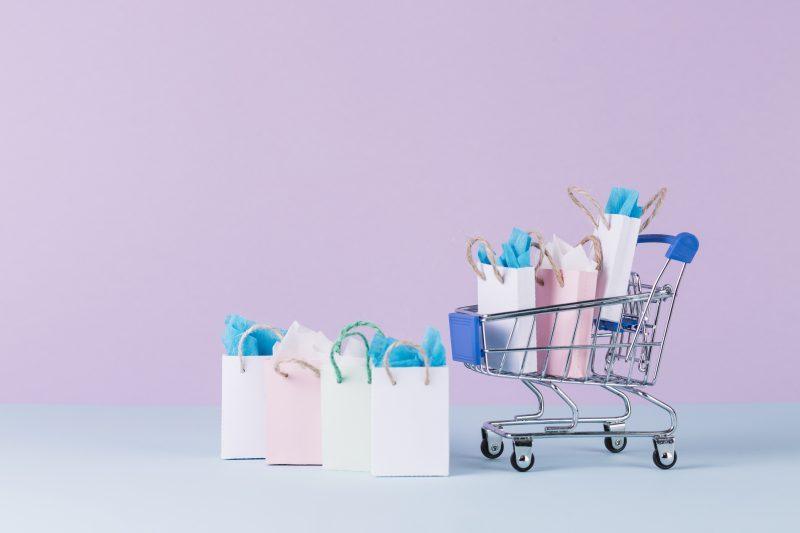 estratégias de vendas no varejo: carrinho de compras