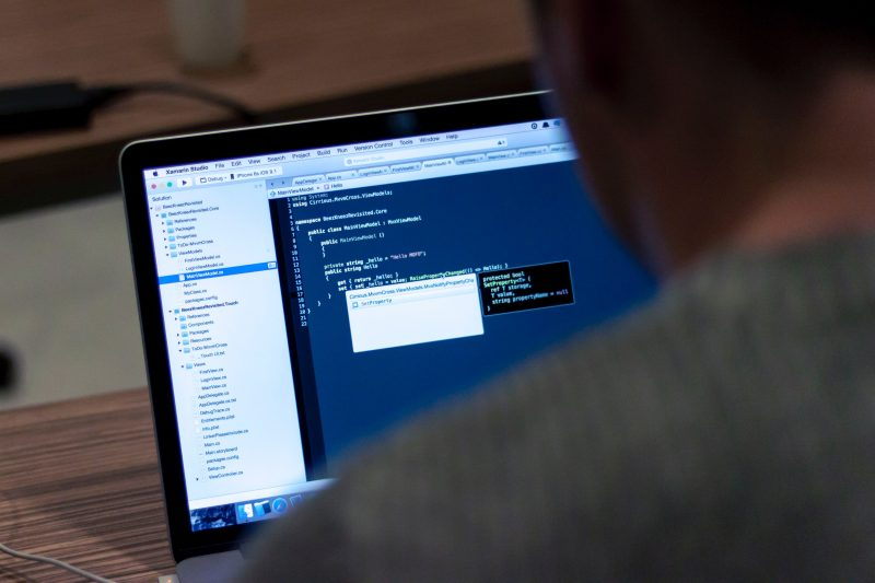 comprar com segurança: tela de computador com linhas de programação