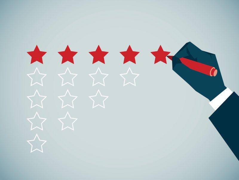 estratégias de vendas no varejo: estrelas sendo coloridas