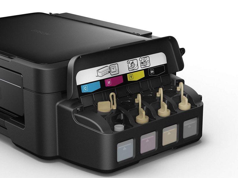 impressoras tanque de tinta: foto do produto com tanque aberto
