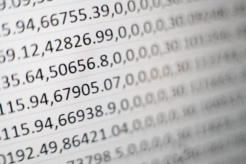 precificaçõ no varejo: vários números em tela branca
