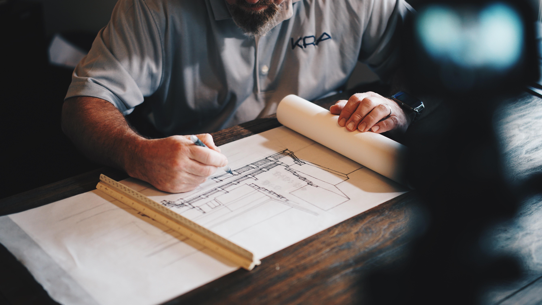 Arquiteto trabalhando em eventos de construção civil