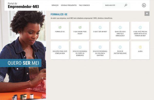 Print do Portal do Empreendedor. Para ler em detalhes, acesse: www.portaldoempreendedor.gov.br/
