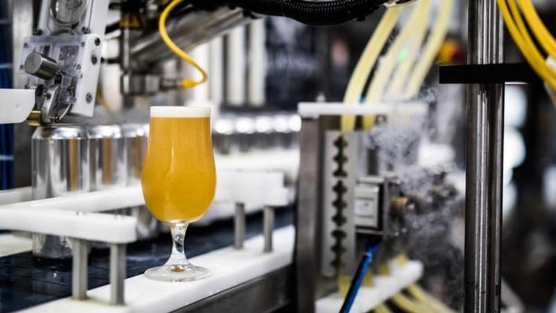 Fábrica de cervejas artesanais, taça de cerveja