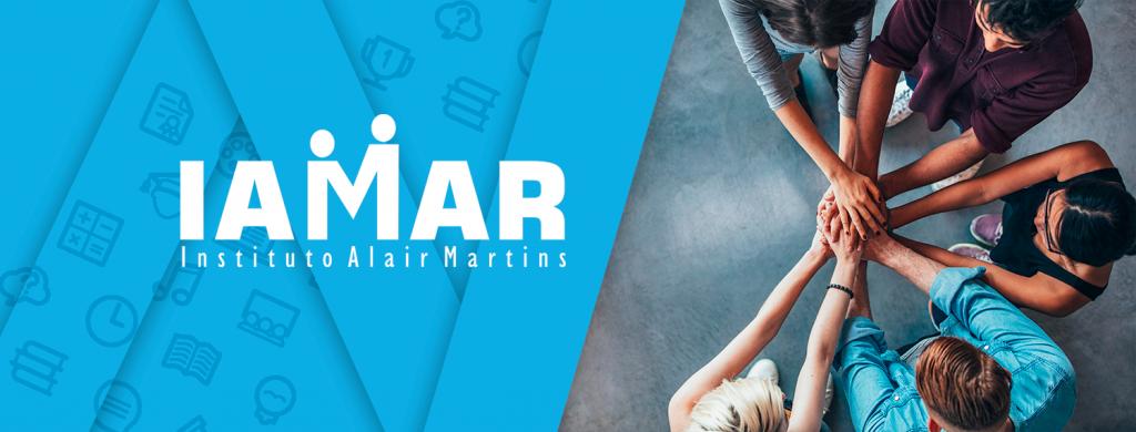 Banner institucional do Instituto Alair Martins, parte das soluções do Martins Atacadista.