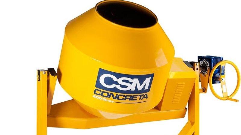 Foto de betoneira CSM de 400 litros