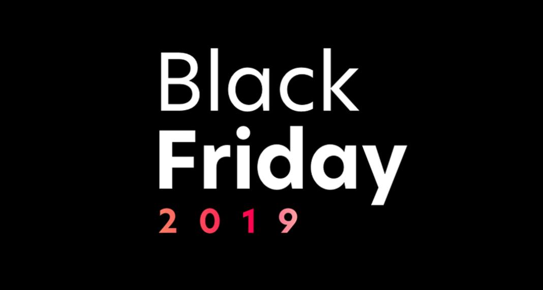 Banner preto com os escritors Black Friday 2019