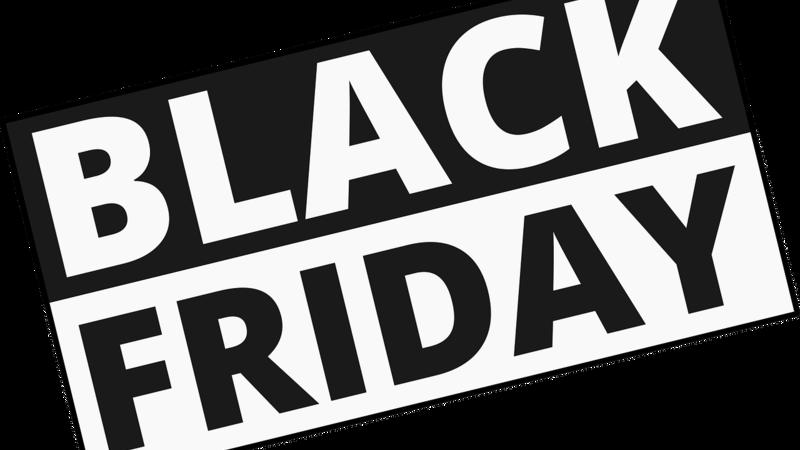 """Selo preto e branco escrito """"Black Friday"""""""
