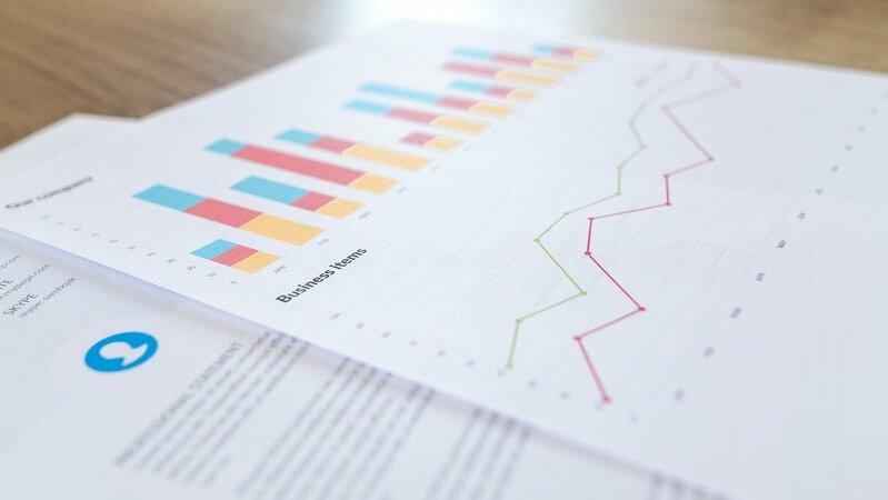 tabelas coloridas indicam vendas e retorno financeiro
