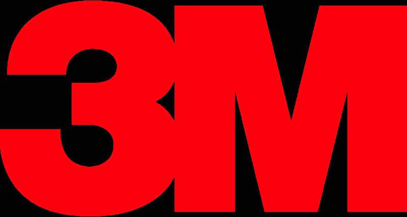 Logomarca da 3M em vermelho sobre fundo branco.