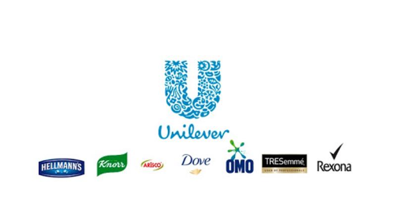 Logos Unilever, Hellmann's, Knorr, Arisco, Dove, Omo, TRESemmé e Rexona.