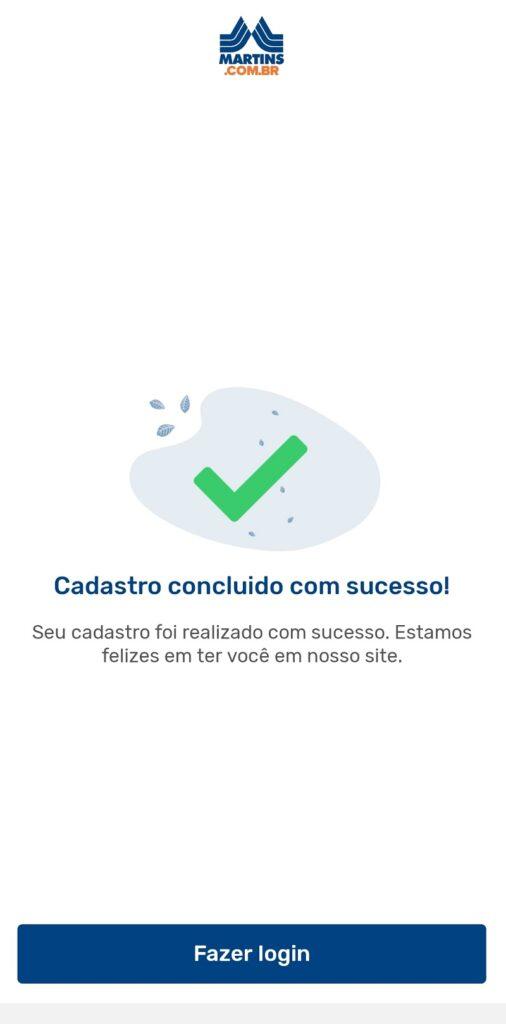 tela 6 de como instalar o Martins Atacado Online