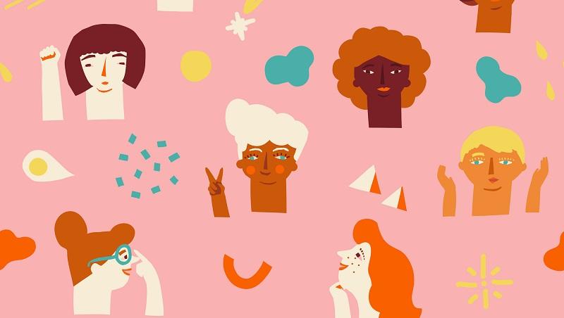 figuras de diversas mulheres