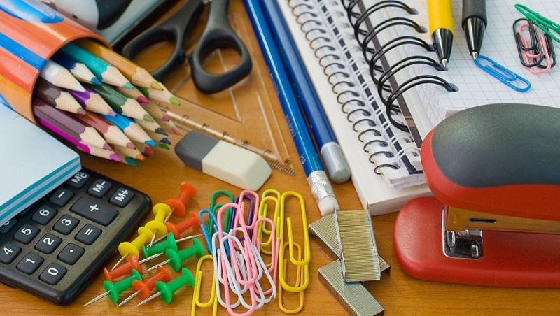 produtos de material escolar volta às aulas