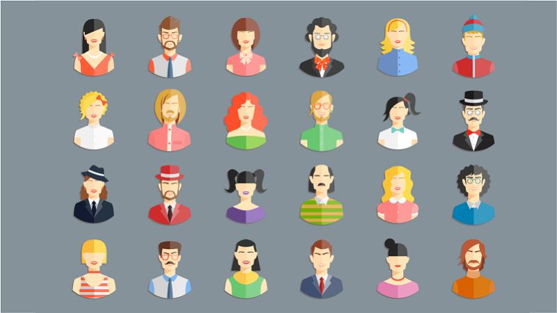 ícones de personas
