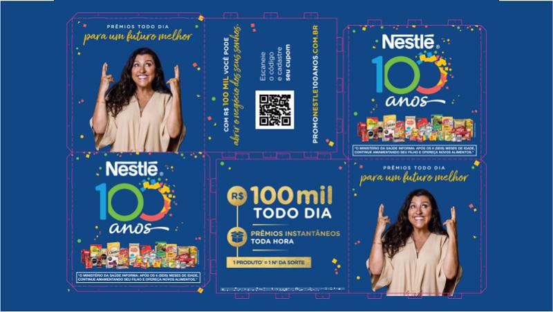 peça cubo kit divulgação Nestlé 100 anos