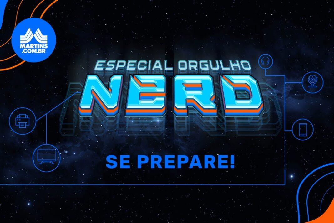 arte sobre o dia do orgulho nerd no Martins