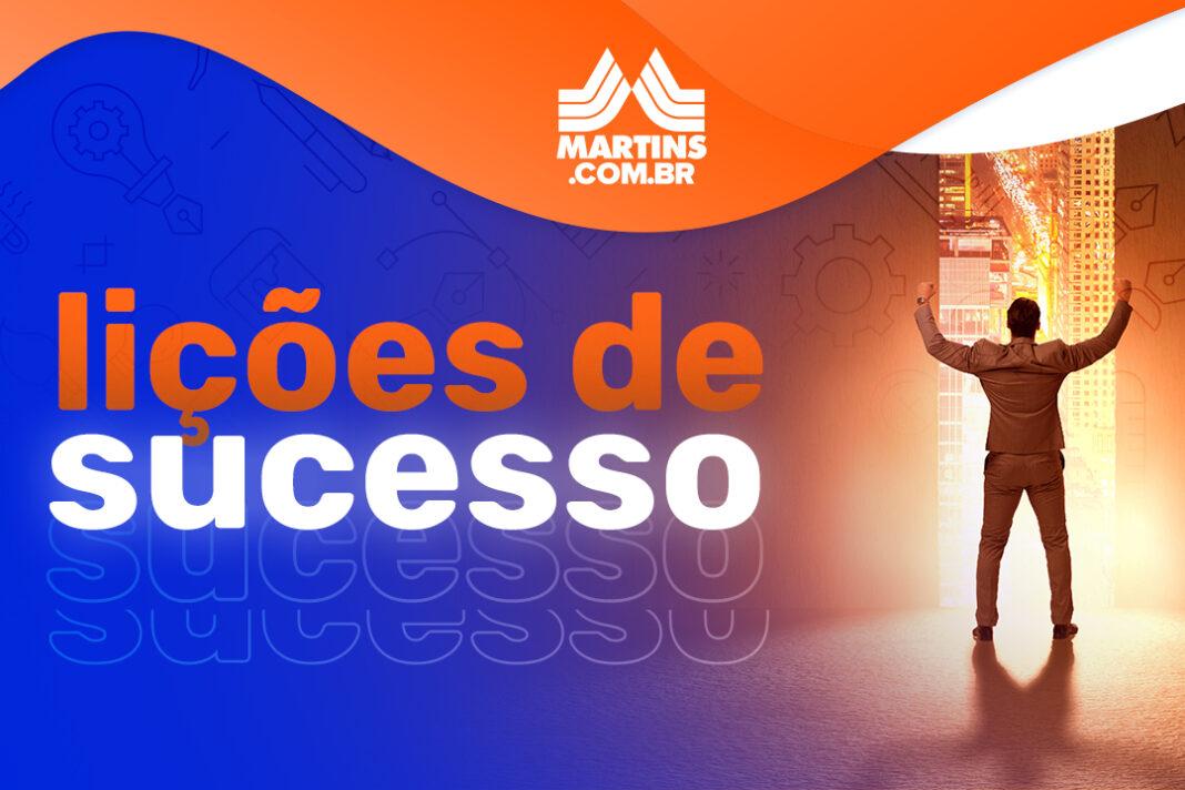 arte sobre a série Lições de Sucesso do Martins